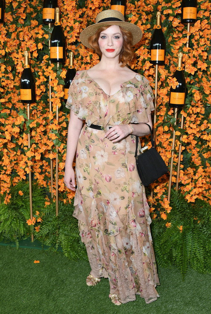 Christina Hendricks – Veuve Clicquot Polo Classic in Los Angeles – 06-10-2018